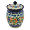 6-inch Stoneware Jar with Lid - Polmedia Polish Pottery H7497J