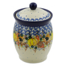 6-inch Stoneware Jar with Lid - Polmedia Polish Pottery H7498J