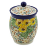 6-inch Stoneware Jar with Lid - Polmedia Polish Pottery H7499J