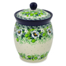 6-inch Stoneware Jar with Lid - Polmedia Polish Pottery H7501J
