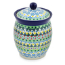 6-inch Stoneware Jar with Lid - Polmedia Polish Pottery H7503J