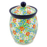 6-inch Stoneware Jar with Lid - Polmedia Polish Pottery H7506J