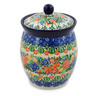 6-inch Stoneware Jar with Lid - Polmedia Polish Pottery H7512J