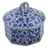 6-inch Stoneware Jar with Lid - Polmedia Polish Pottery H7514K