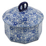6-inch Stoneware Jar with Lid - Polmedia Polish Pottery H7515K