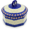 6-inch Stoneware Jar with Lid - Polmedia Polish Pottery H7936E