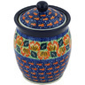 6-inch Stoneware Jar with Lid - Polmedia Polish Pottery H8534G