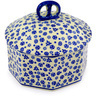 6-inch Stoneware Jar with Lid - Polmedia Polish Pottery H8672C