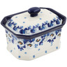 6-inch Stoneware Jar with Lid - Polmedia Polish Pottery H8775K