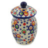 6-inch Stoneware Jar with Lid - Polmedia Polish Pottery H9511J