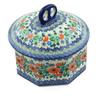 6-inch Stoneware Jar with Lid - Polmedia Polish Pottery H9598A