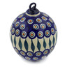 6-inch Stoneware Ornament Christmas Ball - Polmedia Polish Pottery H9379J