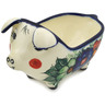6-inch Stoneware Pig Shaped Jar - Polmedia Polish Pottery H7929C