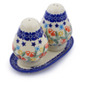6-inch Stoneware Salt and Pepper Set - Polmedia Polish Pottery H3698J
