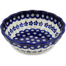 6-inch Stoneware Scalloped Bowl - Polmedia Polish Pottery H1323L
