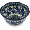 6-inch Stoneware Scalloped Bowl - Polmedia Polish Pottery H4177E