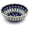 6-inch Stoneware Scalloped Bowl - Polmedia Polish Pottery H6304J