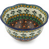 6-inch Stoneware Scalloped Bowl - Polmedia Polish Pottery H8684G