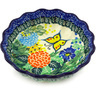 6-inch Stoneware Scalloped Fluted Bowl - Polmedia Polish Pottery H4371G