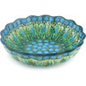 6-inch Stoneware Scalloped Fluted Bowl - Polmedia Polish Pottery H6623G