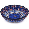 6-inch Stoneware Scalloped Fluted Bowl - Polmedia Polish Pottery H6967G