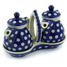 6-inch Stoneware Seasoning Set - Polmedia Polish Pottery H0205F