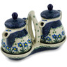 6-inch Stoneware Seasoning Set - Polmedia Polish Pottery H6557A