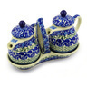 6-inch Stoneware Seasoning Set - Polmedia Polish Pottery H7623E