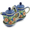 6-inch Stoneware Seasoning Set - Polmedia Polish Pottery H8265A