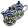 6-inch Stoneware Seasoning Set - Polmedia Polish Pottery H8636B