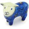 6-inch Stoneware Sheep Figurine - Polmedia Polish Pottery H5047G