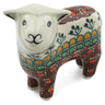6-inch Stoneware Sheep Figurine - Polmedia Polish Pottery H9107B