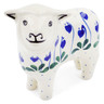 6-inch Stoneware Sheep Figurine - Polmedia Polish Pottery H9335G