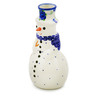 6-inch Stoneware Snowman Candle Holder - Polmedia Polish Pottery H0126K