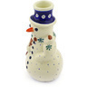 6-inch Stoneware Snowman Candle Holder - Polmedia Polish Pottery H1401F