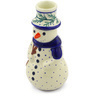 6-inch Stoneware Snowman Candle Holder - Polmedia Polish Pottery H1402F