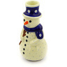 6-inch Stoneware Snowman Candle Holder - Polmedia Polish Pottery H3777D