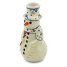 6-inch Stoneware Snowman Candle Holder - Polmedia Polish Pottery H4413J