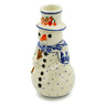 6-inch Stoneware Snowman Candle Holder - Polmedia Polish Pottery H4589J