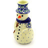 6-inch Stoneware Snowman Candle Holder - Polmedia Polish Pottery H5388D