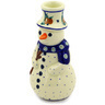 6-inch Stoneware Snowman Candle Holder - Polmedia Polish Pottery H5390D