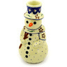 6-inch Stoneware Snowman Candle Holder - Polmedia Polish Pottery H5392D