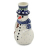 6-inch Stoneware Snowman Candle Holder - Polmedia Polish Pottery H5396D