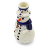 6-inch Stoneware Snowman Candle Holder - Polmedia Polish Pottery H6048C