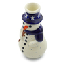 6-inch Stoneware Snowman Candle Holder - Polmedia Polish Pottery H6083C