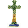 6-inch Stoneware Standing Cross - Polmedia Polish Pottery H1868D