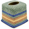 6-inch Stoneware Tissue Box Cover - Polmedia Polish Pottery H0204D