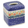 6-inch Stoneware Tissue Box Cover - Polmedia Polish Pottery H0563L