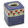 6-inch Stoneware Tissue Box Cover - Polmedia Polish Pottery H2283K