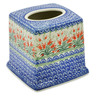 6-inch Stoneware Tissue Box Cover - Polmedia Polish Pottery H4928K